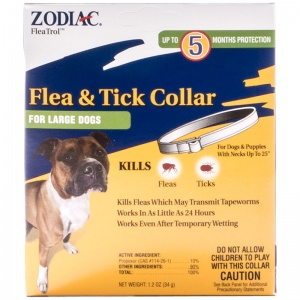 Zodiac Flea and Tick Collar for Large Dogs - 5 Month Supply #44540 - Flea and Tick Collars for Dogs Best Price