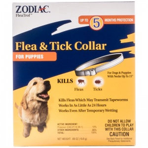 Zodiac Flea and Tick Collar for Puppies - 5 Month Supply #44240 - Flea and Tick Collars for Dogs Best Price