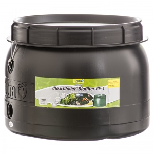 Tetra Pond ClearChoice Pond Biofilter: Clearchoice PF 1 - (500 GPH - Max Pond 1 200 Gallons) #16783 - External Gravity Pond Filters Best Price