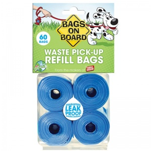 Bags on Board Bags On Board Refill: 60 Pack #906B - Dog Poop Pickup Bags Best Price