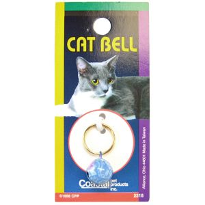 Coastal Pet Cat Bell - (Assorted Styles): Blue Swirl