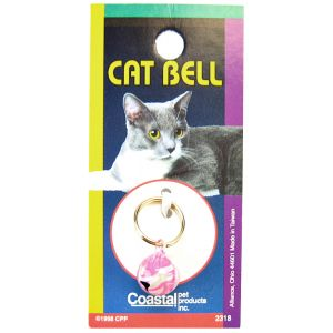 Coastal Pet Cat Bell - (Assorted Styles): Pink Swirl