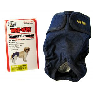 Four Paws Wee Wee Diaper Garment: Small - (Waist 13-19 - 8-15 lbs) #18892 - Dog Diapers and Garments Best Price