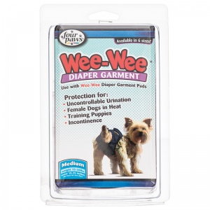 Four Paws Wee Wee Diaper Garment: Medium - (Waist 18-25 - 15-35 lbs) #18893 - Dog Diapers and Garments Best Price