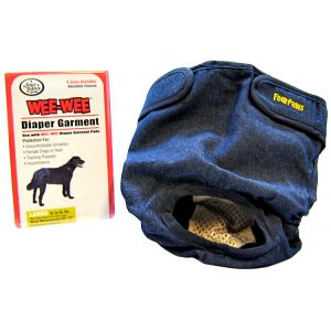 Four Paws Wee Wee Diaper Garment: Large - (Waist 20-27 - 35-55 lbs) #18894 - Dog Diapers and Garments