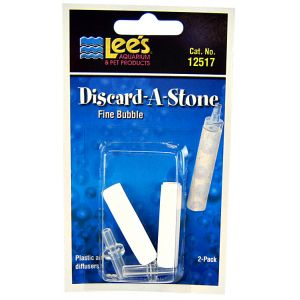 Lees Discard-A-Stone Diffuser: Fine 2 Pack - (2 Stones / 2 Inserts) #12517 - Aquarium Airstones Best Price