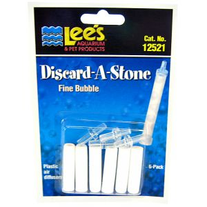 Lees Discard-A-Stone Diffuser: Fine 6 Pack - (6 Stones / 4 Inserts) #12521 - Aquarium Airstones Best Price