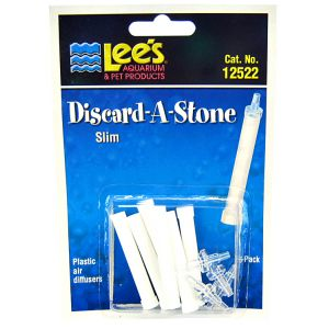 Lees Discard-A-Stone Diffuser: Slim 6 Pack - (6 Stones / 4 Inserts) #12522 - Aquarium Airstones Best Price