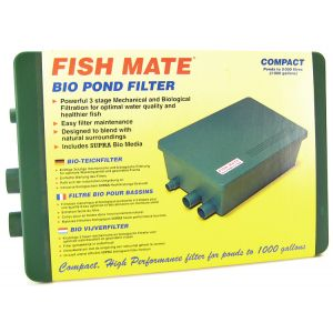 Fish Mate Compact Bio Pond Filter: Bio Pond Filter 1000 - (Max Pond 1 000 Gallons - 500 GPH ) #228 - External Gravity Pond Filters Best Price