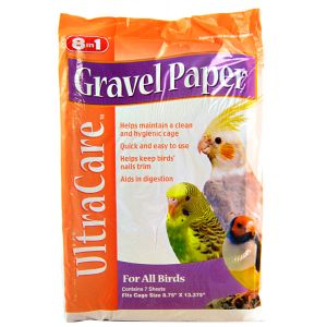 Ultra Care Gravel Paper For All Birds: 8.75 x 13.375 - (7 Sheets) #C341 - Bird Cage Cleaning Supplies Best Price