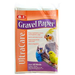 Ultra Care Gravel Paper For All Birds: 9.5 x 15 - (7 Sheets) #C342 - Bird Cage Cleaning Supplies Best Price