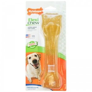 Nylabone Flexible Pooch Pacifier - Chicken Flavor: Souper #NCF205 - Dog Chew Bones Best Price