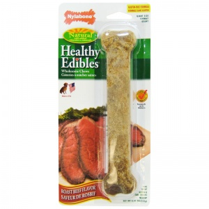 Healthy Edibles All Natural - Roast Beef Flavor: Giant - (1 Pack) #NE804 - Natural Dog Treats Best Price
