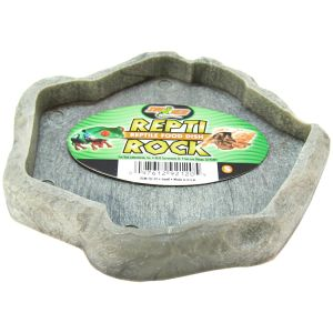 Zoo Med Repti Rock Food Dish: Small #FD20 - Reptile Food Bowls Best Price