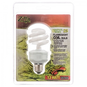 Zilla Super UV Coil Lamp: 13 Watt #55170 - Reptile Fluorescent Bulbs Best Price