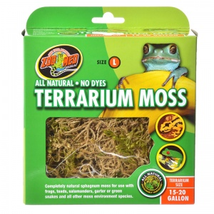 Zoo Med All Natural Terrarium Moss: 15 - 20 Gallon #CF2L - Reptile Terrarium Plants Best Price