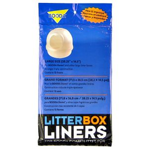 Booda Dome Litter Box Liners 12-Pack: Dome Liners 12-Pack #50414 - Cat Pan Liners and Filters Best Price