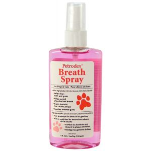 Petrodex Breath Spray for Dogs and Cats 4 oz: Breath Spray for Dogs and Cats 4 oz #53101 - Dog Dental Care Best Price