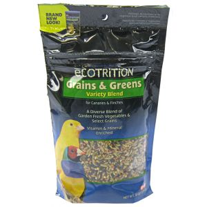 Ecotrition Grains and Greens Variety Blend for Canaries and Finches - Canary Food Best Price