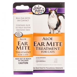 Four Paws Ear Mite Remedy For Cats #1732 - Ear Care for Cats Best Price