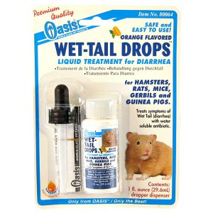 Oasis Wet-Tail Drops (diarrhea treatment) - 1 oz: Wet-Tail Drops - 1 oz #80064 - Small Pet Medicine and Supplements Best Price