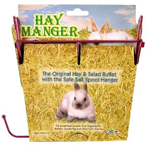 Super Pet Hay Manger With Salt Spool Hanger #61912 - Small Pet Hay Feeders Best Price