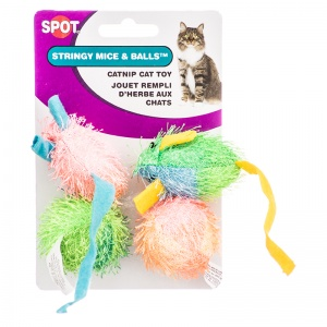 Spotnips String Mice And Balls Catnip 4 Pack - Cat Mice Toys Best Price