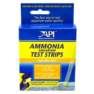 Aquarium Pharmaceuticals Ammonia Test Strips - 25 Strips #33D - Aquarium Saltwater Test Kits
