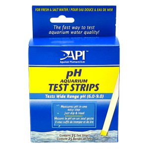 Aquarium Pharmaceuticals pH Test Strips - 25 Strips #33F - Aquarium Saltwater Test Kits Best Price
