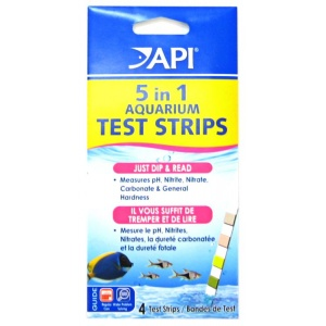 Aquarium Pharmaceuticals 5 in 1 Test Strips - 25 Strips - Aquarium Saltwater Test Kits Best Price