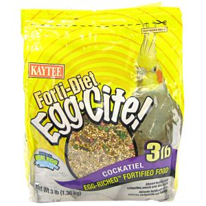 Forti-Diet Egg-Cite! Cockatiel: 3 lbs #100032240 - Cockatiel Food Best Price