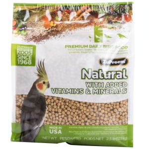 ZuPreem Avian Maintenance Natural Blend for Cockatiels: 2.5 lbs #39220 - Cockatiel Food Best Price