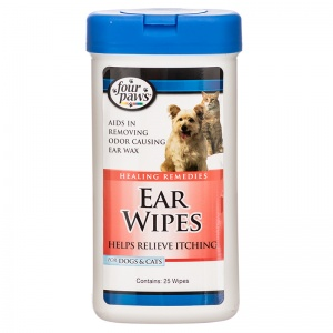 Four Paws Ear Wipes 30 Wipes #1770 - Ear Care for Cats Best Price
