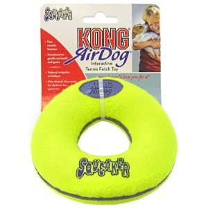Kong Air Dog Air Kong Donut Squeaker: Medium #ASD2 - Toss and Fetch Dog Toys