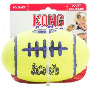 Kong Air Dog Air Kong Football Squeaker: Large #ASFB1 - Toss and Fetch Dog Toys Best Price