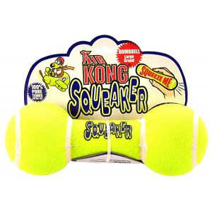 Kong Air Dog Air Kong Dumbbell Squeaker: Large #ASDB1 - Toss and Fetch Dog Toys Best Price