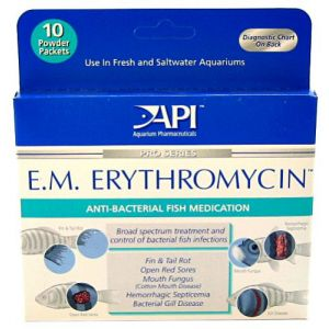 Aquarium Pharmaceuticals E.M. Erythromycin Powder - Bacterial and Fungal Aquarium Medications