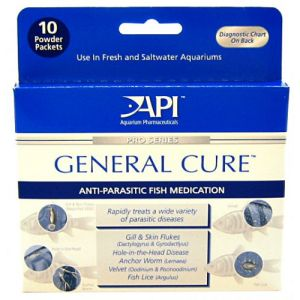 Aquarium Pharmaceuticals General Cure Powder - External Parasite Aquarium Medications Best Price