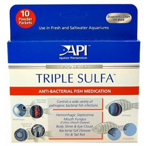 Aquarium Pharmaceuticals Triple Sulfa Powder - Bacterial and Fungal Aquarium Medications Best Price