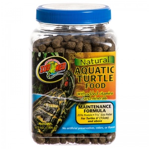 Zoo Med Natural Aquatic Turtle Food - Maintenance Formula for Turtle 6 inches and Above: 6.5 oz #ZM110