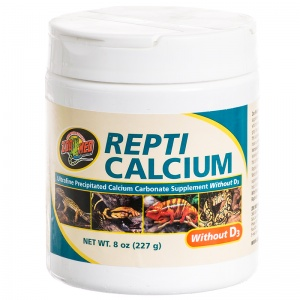 Zoo Med Repti Calcium without D3: 8 oz #A33-8 - Reptile Food Supplements Best Price