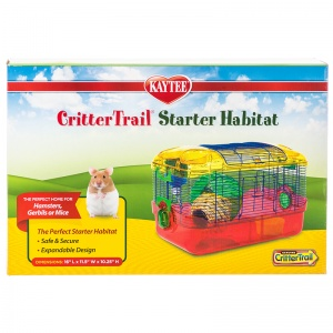Super Pet Critter Trail Primary Starter Habitat: 16L x 10.5W x 10H #60511 - Small Pet Habitats Best Price