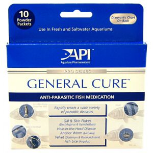 Aquarium Pharmaceuticals General Cure Powder #15P - External Parasite Aquarium Medications