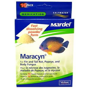 Mardel Maracyn Saltwater Powder: 16 pack #94105 - Bacterial and Fungal Aquarium Medications Best Price