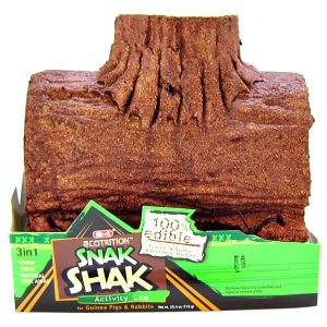 Ecotrition 8-1 Edible Snak Shak Activity Log: Large Log - (Guinea Pig and Rabbit) #E2203 - Small Pet Chew Toys Best Price