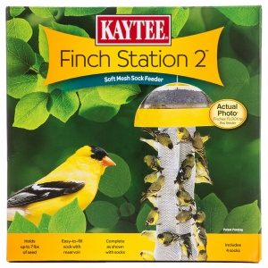 Kaytee Finch Station 2 Sock Feeder: 9-1/8  Diameter x 21 Tall #19111 - Finch and Thistle Feeders Best Price