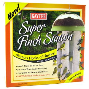 Kaytee Super Finch Station Sock Feeder: 12 Diameter x 23 Tall #19112 - Finch and Thistle Feeders Best Price
