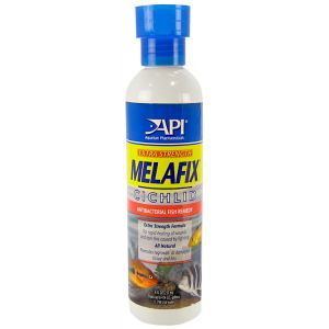 Aquarium Pharmaceuticals Extra Strength Melafix Cichlid Antibacterial Fish Remedy: 8 oz - (Treats up to 474 Gallons) #411C - Bacterial and Fungal Aquarium Medications Best Price