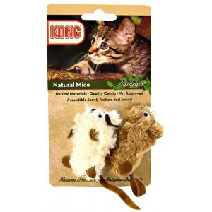 Kong Natural Mice Cat Toy: 2 Pack #CM4 - Cat Mice Toys Best Price
