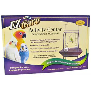 Super Pet EZ Care Activity Center for Small Birds: Activity Center - (26L x 24W x 56H) #80349 - Bird Cages Best Price
